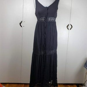 Forever 21 Black Cover Up Maxi Summer Dress